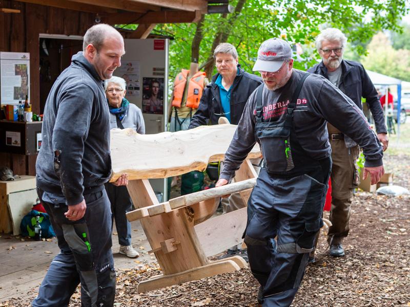 Bänke bauen mit Marcus Müller