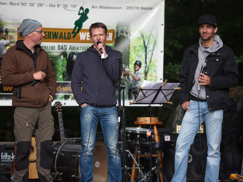 Abends - Open Stage im Kletterwald