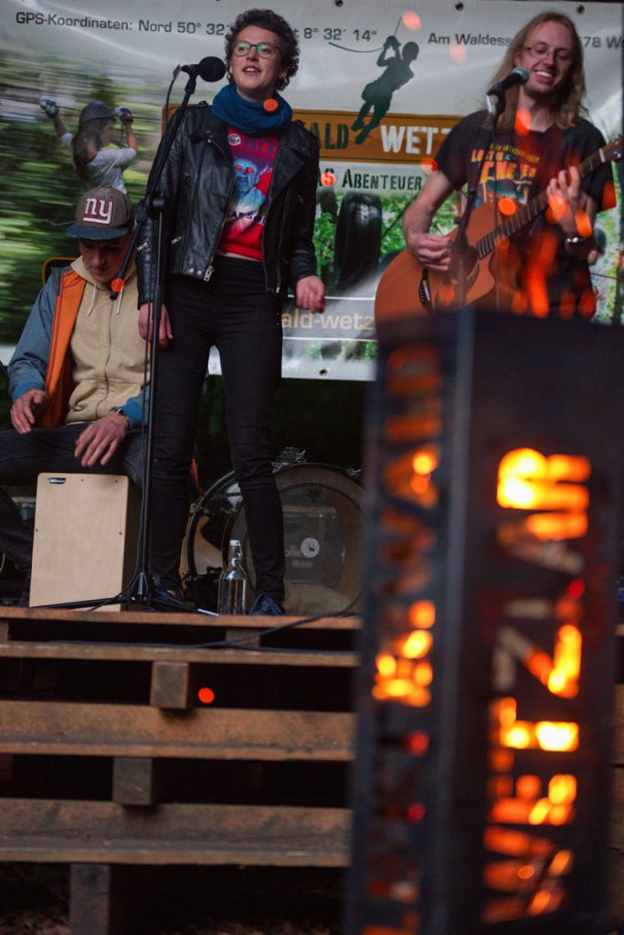 Feuersäule auf der Open-Stage