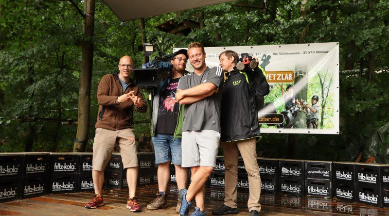 HR Fernsehen im Kletterwald