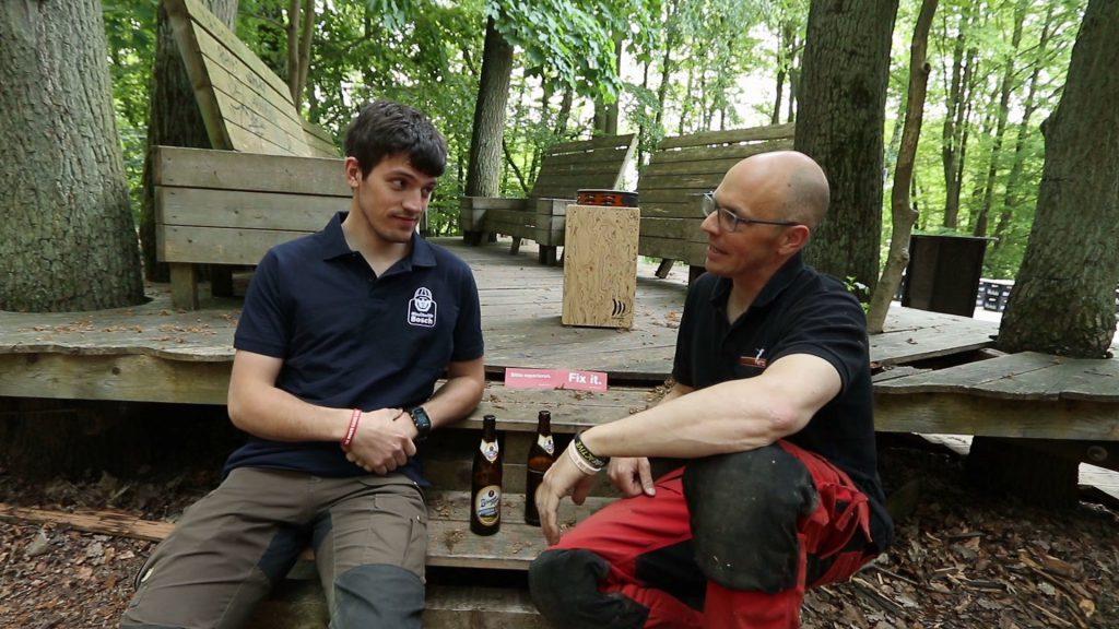 Robin und Simon und das DIY Event