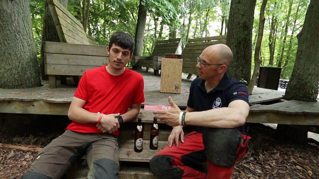 Simon und Robin aus dem Wald