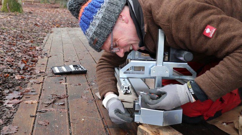 Umbau des mobilen Sägewerks