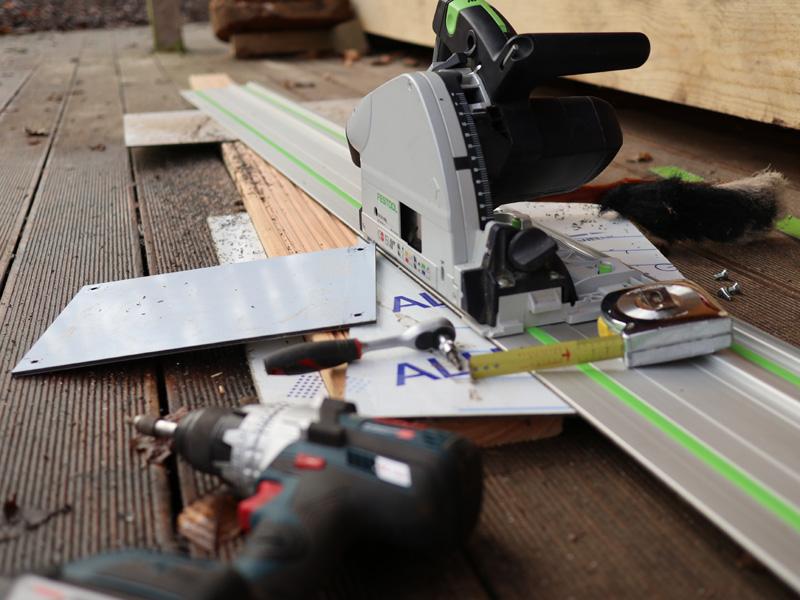 Umbau Rutschplatte mobiles Sägewerk